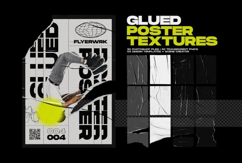 Grunge Glued Poster Texture