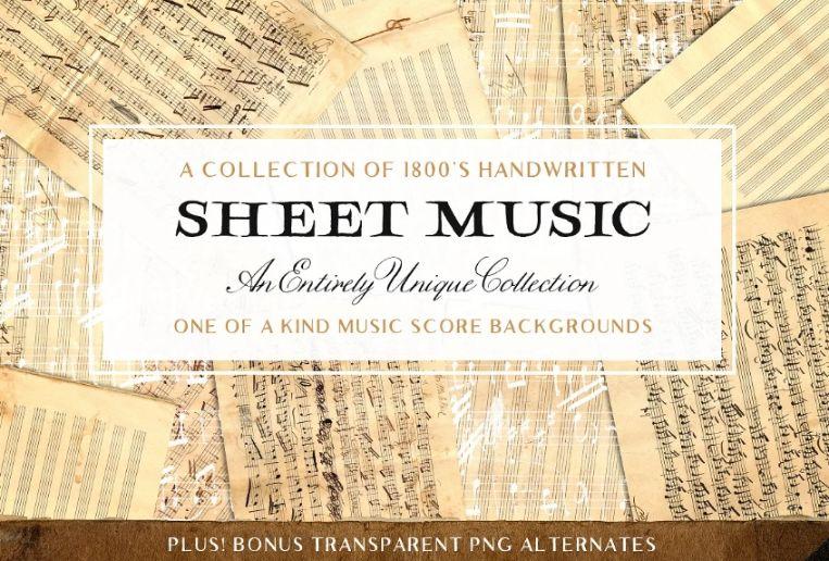 Grunge Music Sheet Texture