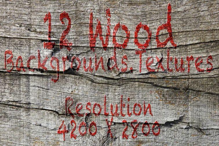 Grunge Style Wood Background Design