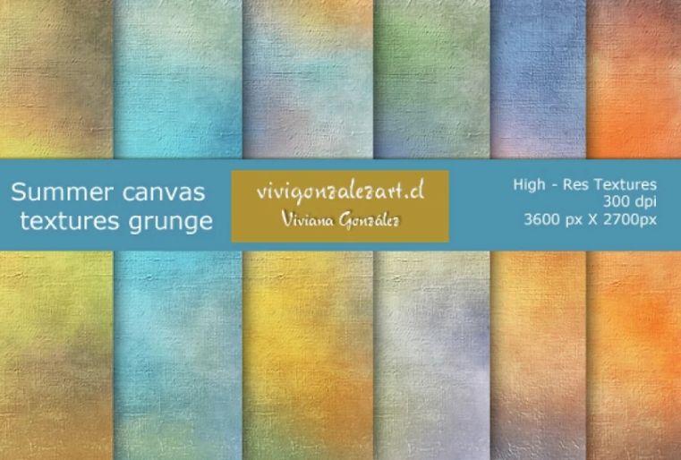 Grunge Summer Canvas Backgrounds
