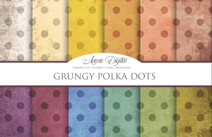 Grungy Polka Dot Backgrounds