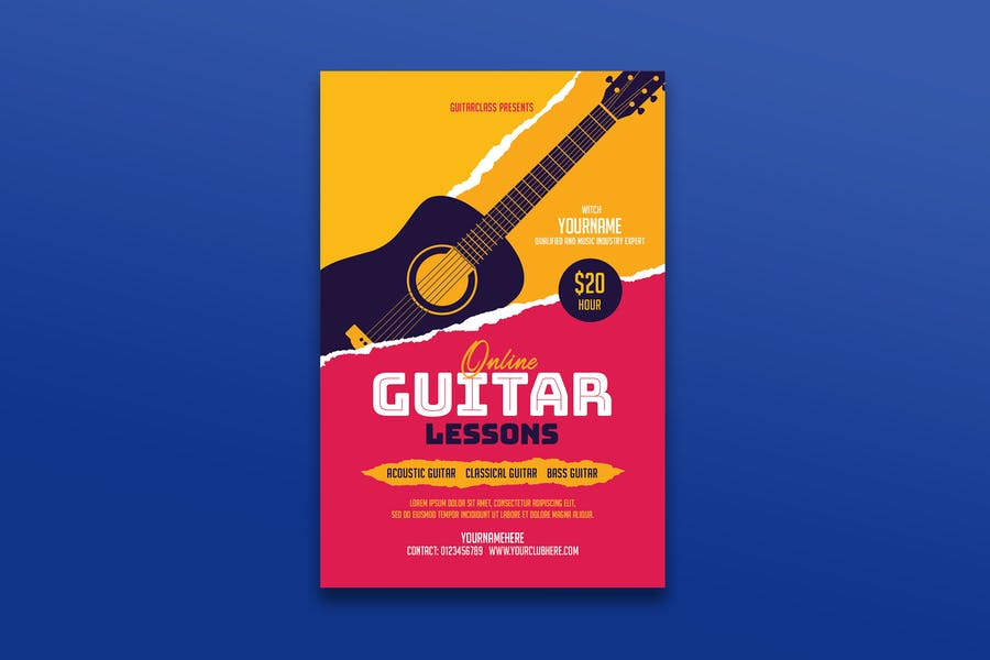 Guitar Lessons Promotional Ad