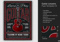music lessons flyer templates