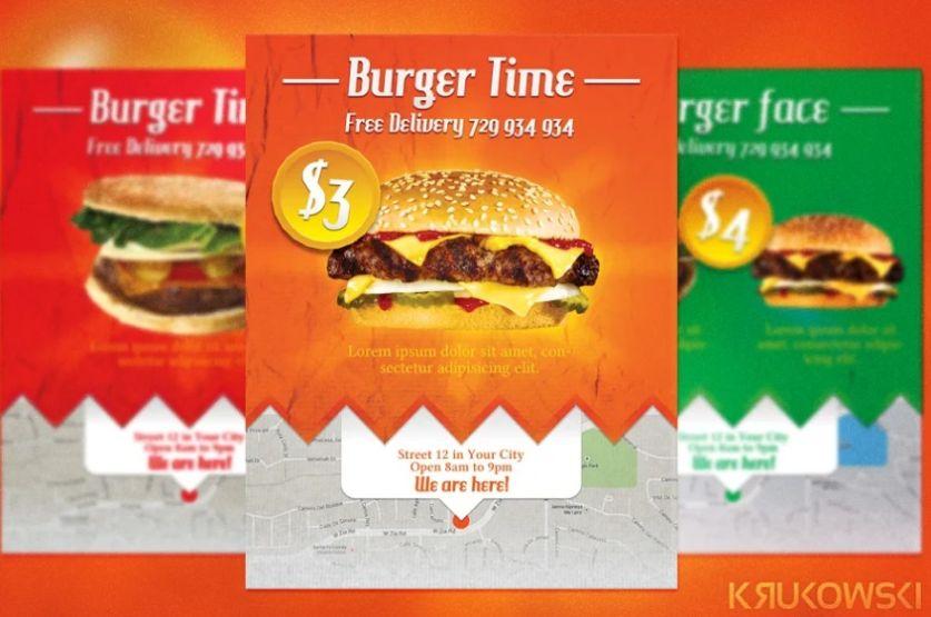Hamburger Flyer Template Design