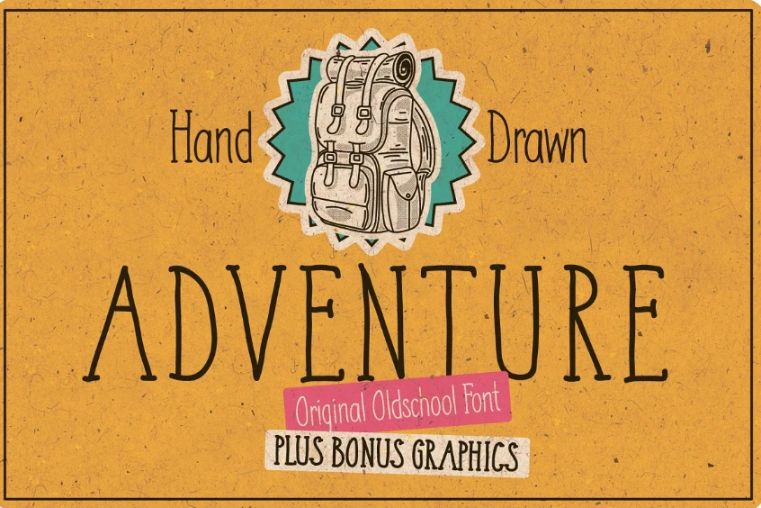 Hand Drawn Expedition Typeface