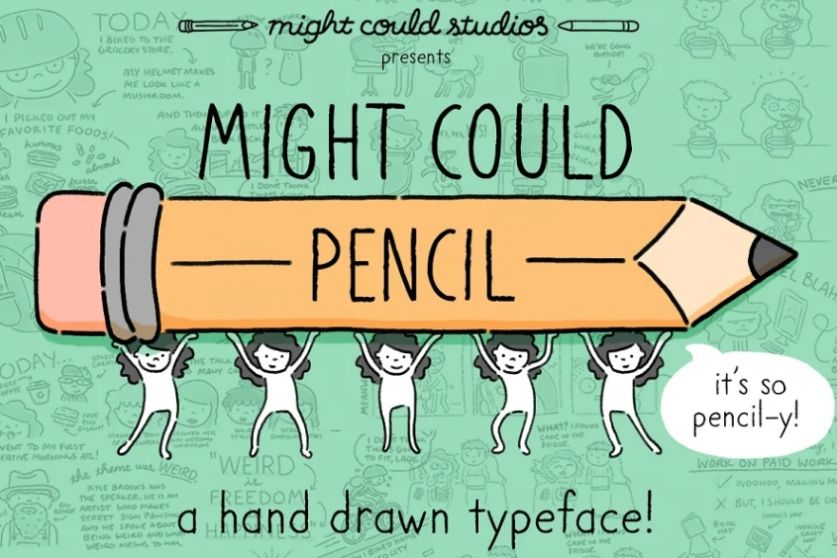 Hand Drawn Pencil Typeface