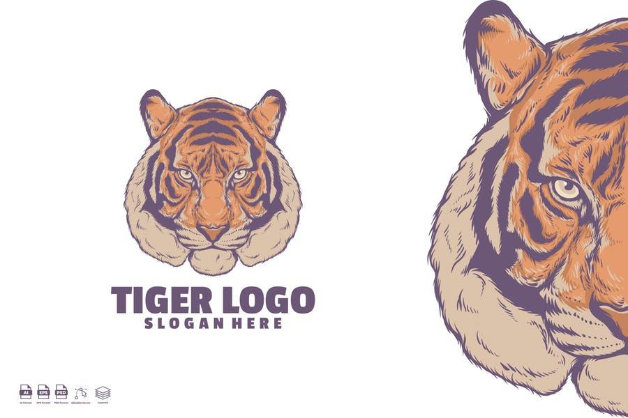 Hand Drawn Tiger Logotype