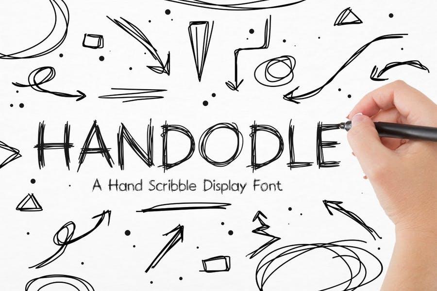 Hand Scribble Doodle Fonts