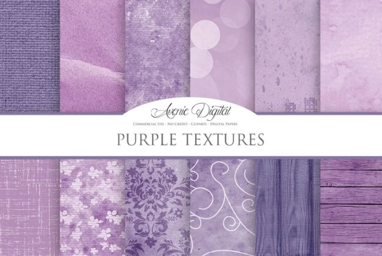 Hand painted Purple Textures