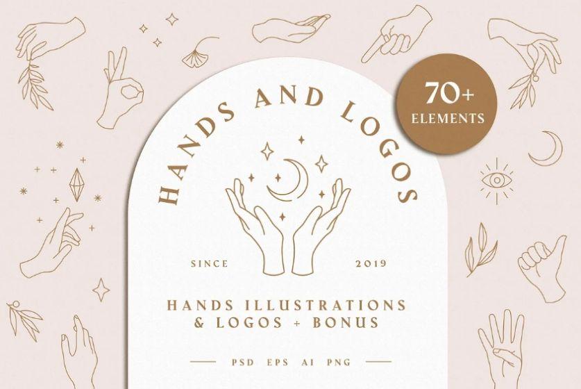Hands Logo Illustration Bundle