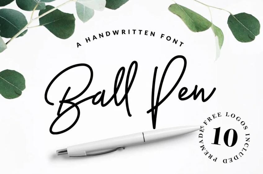 Handwritten Ball Pen Fonts