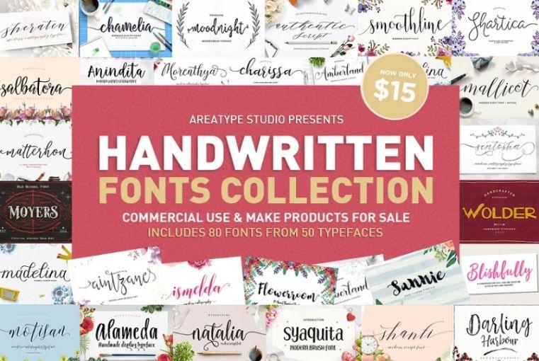 Handwritten Fonts Collection Bundle