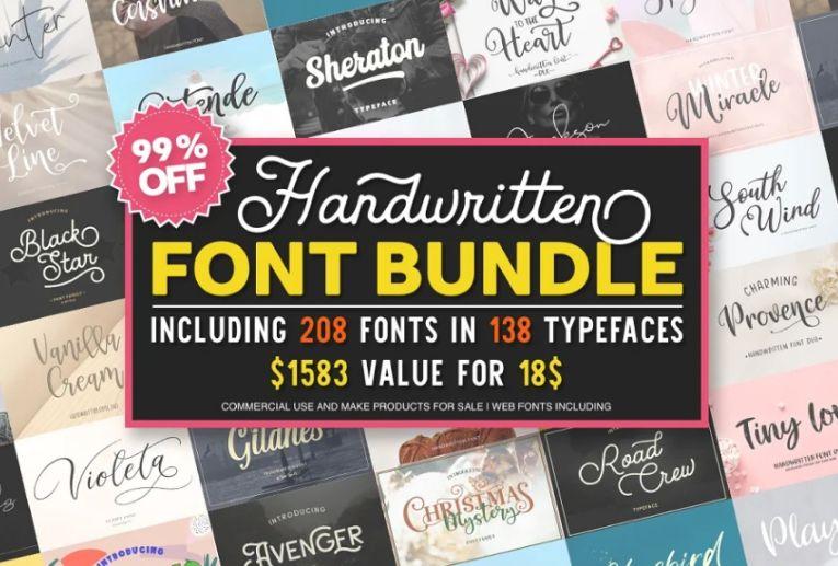 Handwritten Fonts bundle Pack