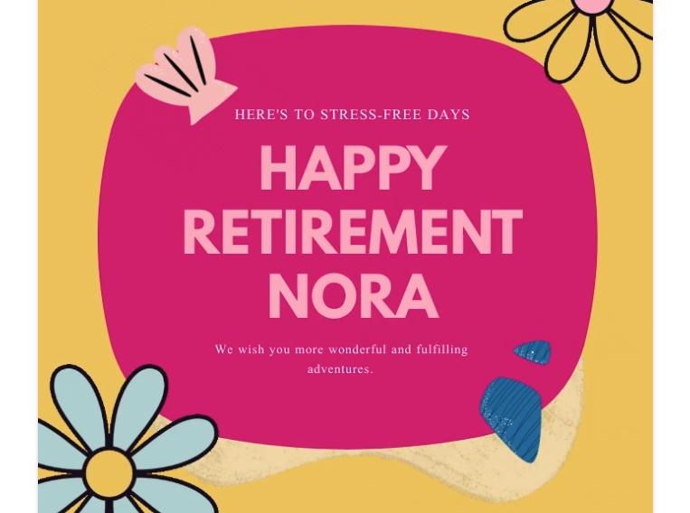 Happy Retirement Post Template