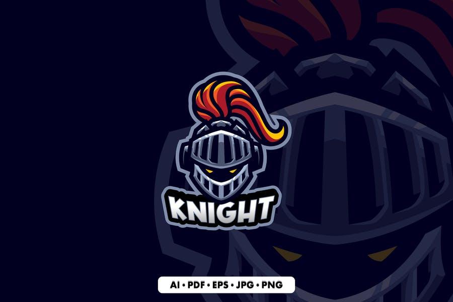Helmet Mascot Logo Design