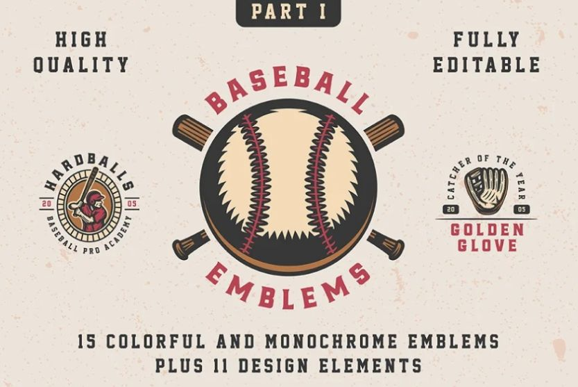 High Quality Baseball Emblem