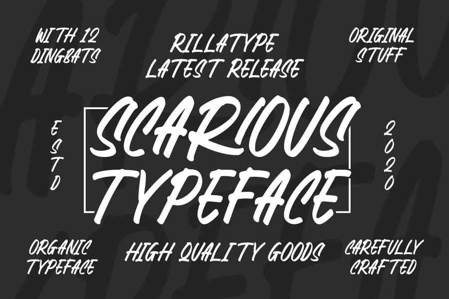 High Quality Condenced Typeface