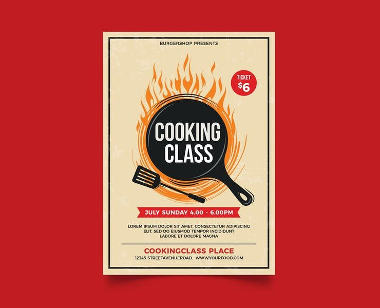21+ Best Cooking Classes Flyer Template PSD Download
