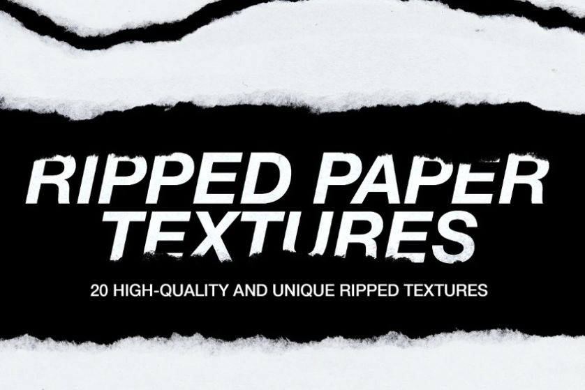 High Quality Paper Rips Texture