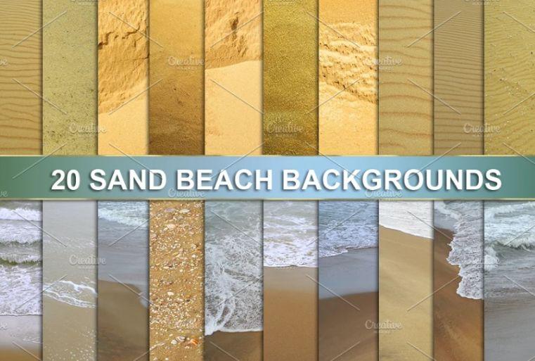 High Resolution Beach Sand Backgrounds
