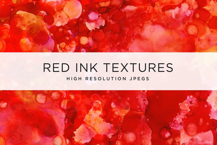 High Resolution Red Ink Backgrounds