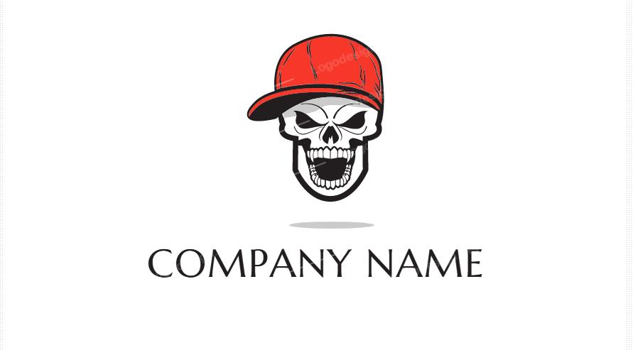 Hipster Skull Branding Design