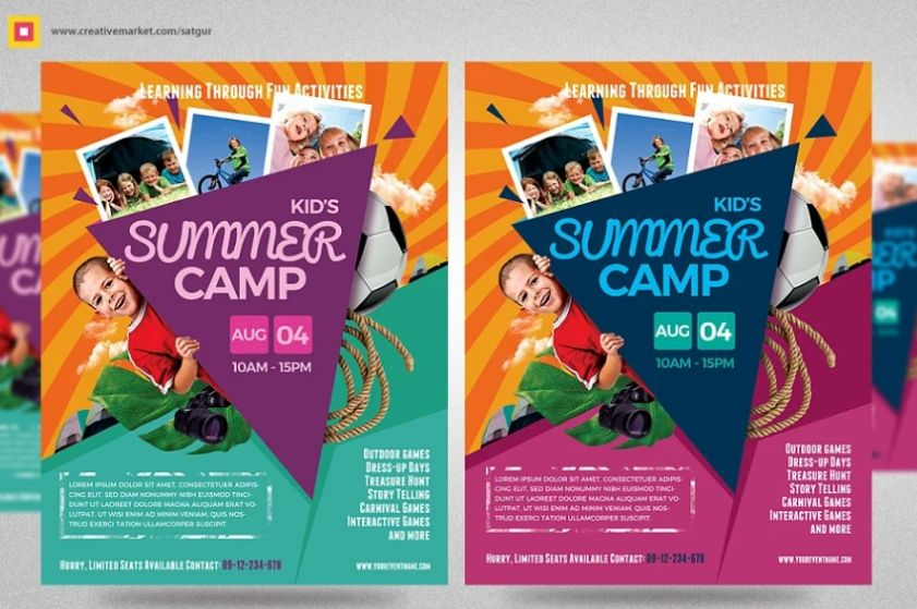 Holiday Camp Flyer Templates