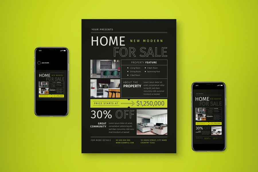 Home For Sale Promotional Set
