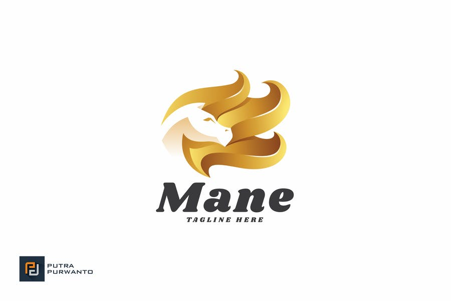 Horse Hair Logo Identity