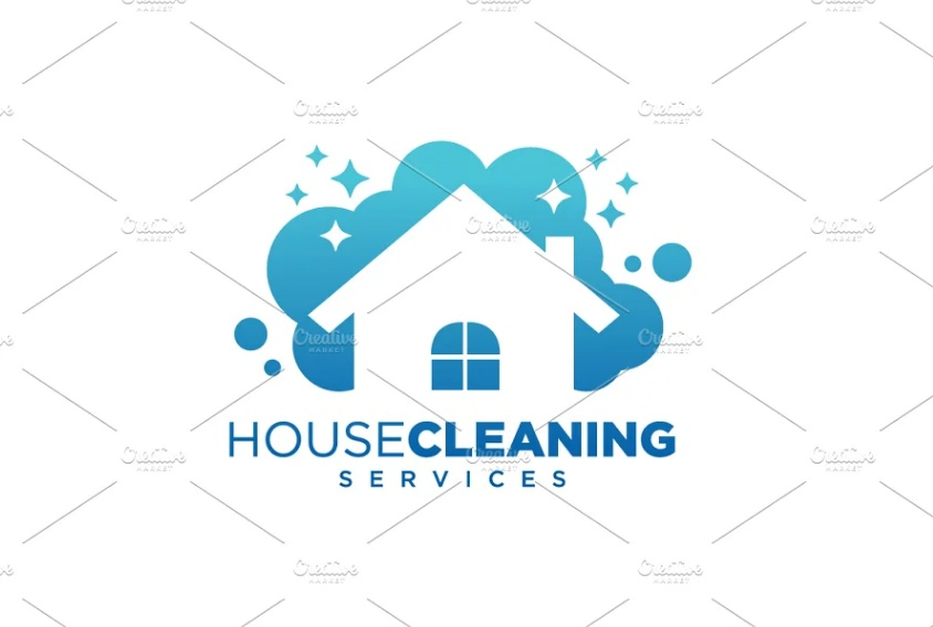 House Cleaning Business Logotype