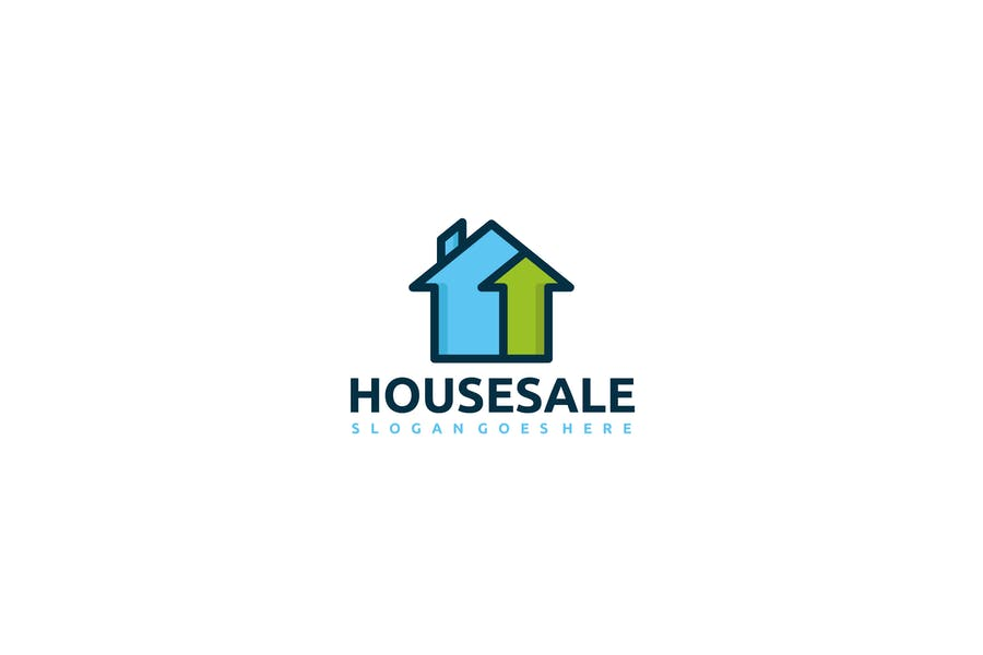 House Sale Logo Identity