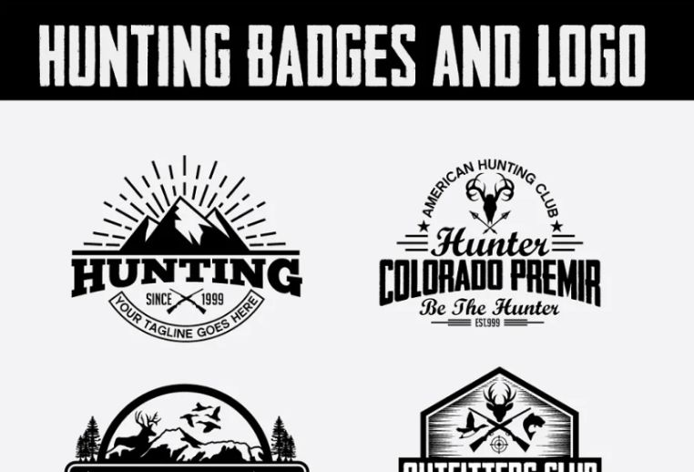 Hunting Badeges and Logo Designs