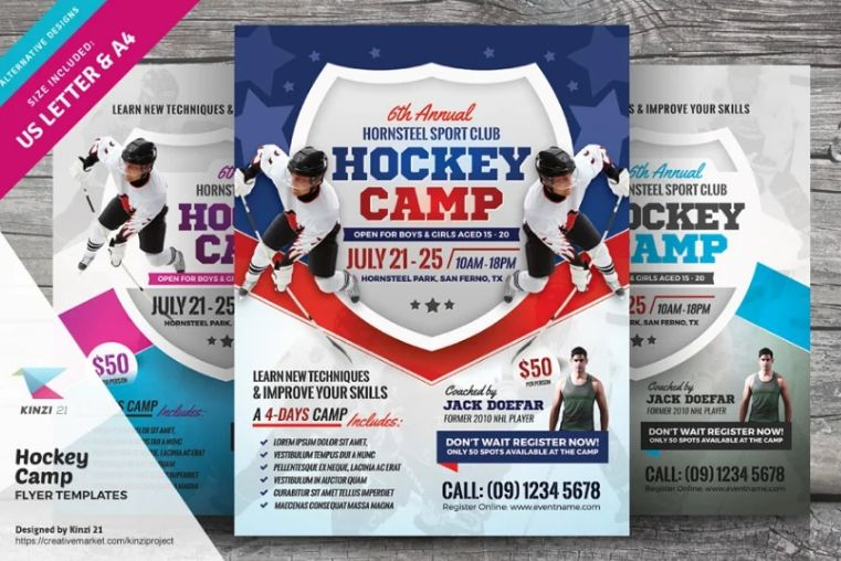 Ice Hockey Flyer Templates