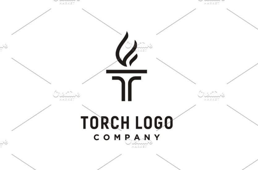 Initial Style Torch Logo Identity