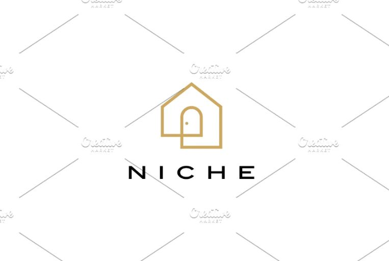 Inline House Logo Template