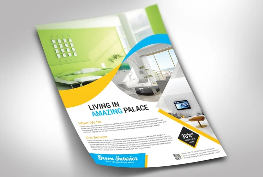 Interior Business Flyer Template
