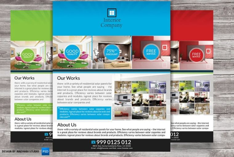 Interior Products Flyer Design