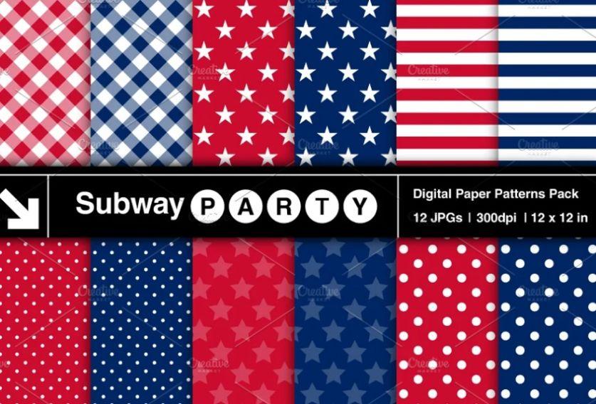 July 4th Pattern Designs