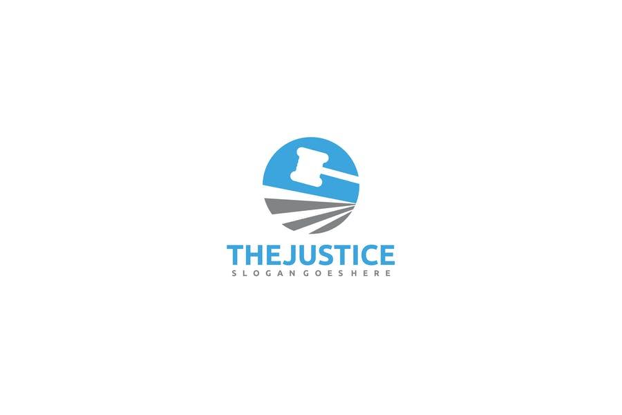Justice Themed Logo Design
