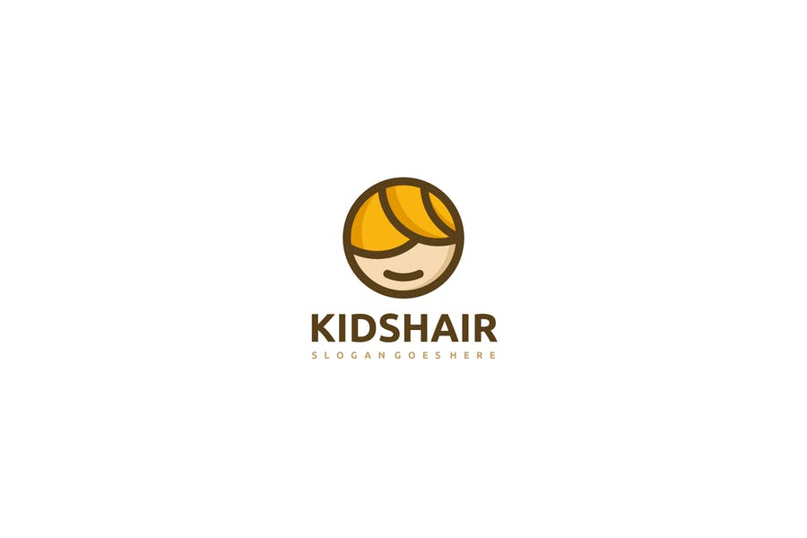 Kid hair Logo Design Set