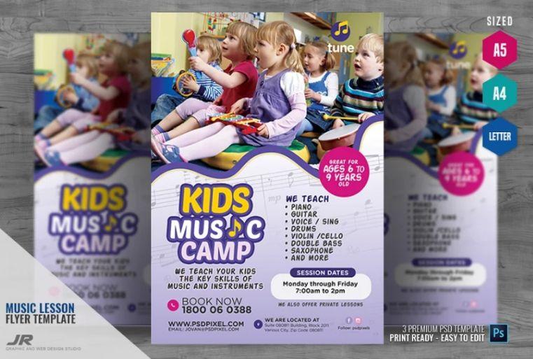 Kids Music Camp Flyers