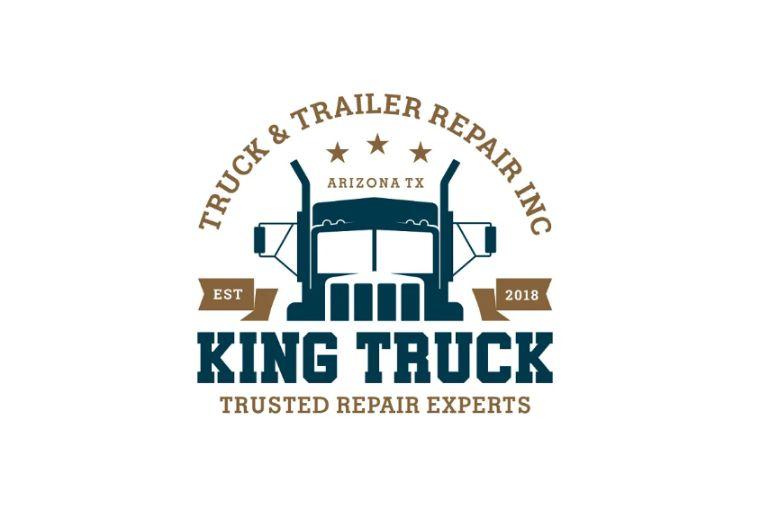 King Truck Logo Template Design