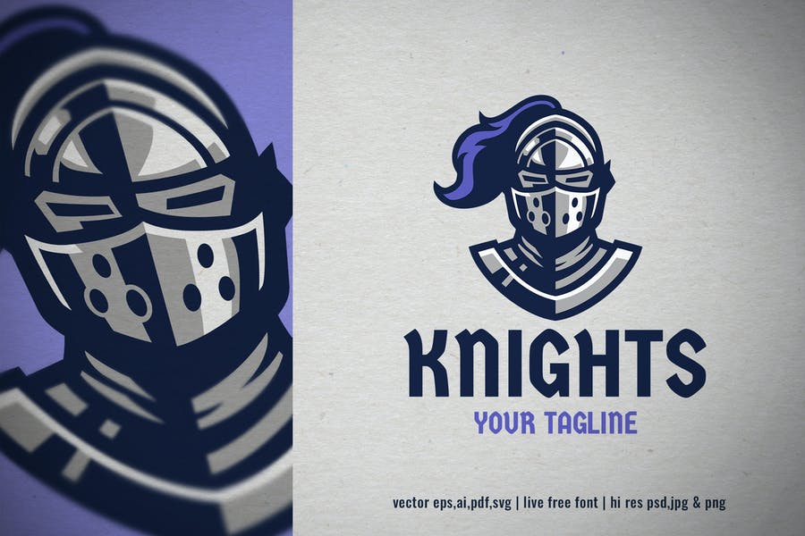 Knight Style Helmet Logo