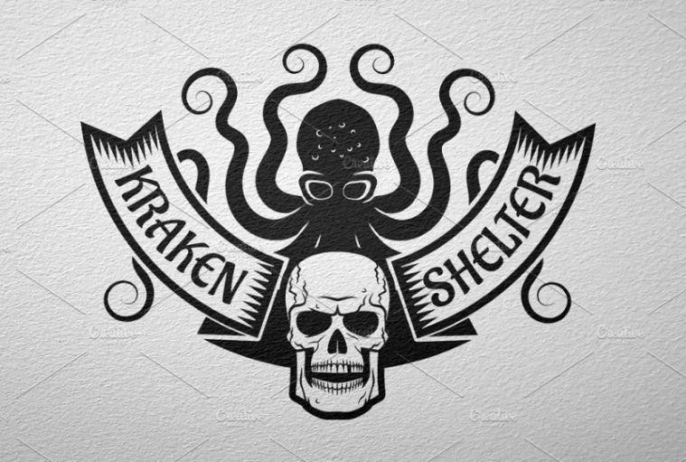 Kraken and Skull Branding Design