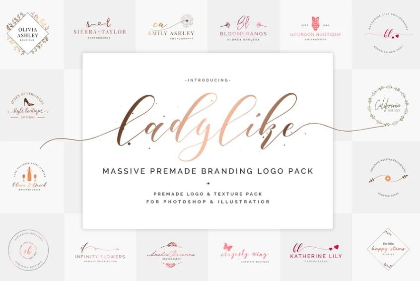 Ladylike Boutique Logo Design Idea