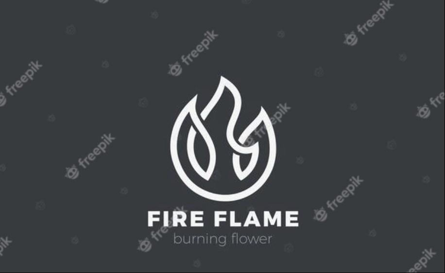Linear fire lLogo Design