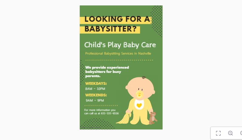 Looking for Babycare Flyer