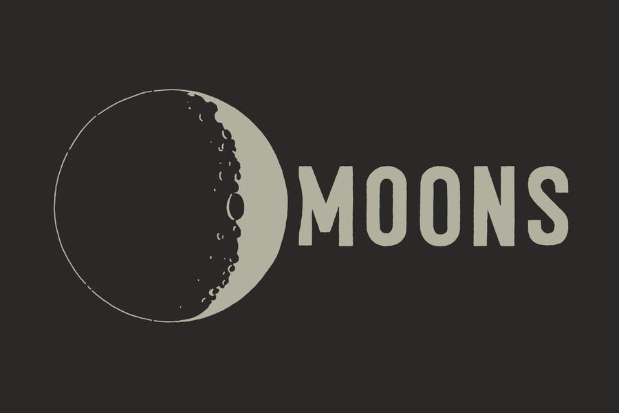 Lunar Space Illustration Wallpapers
