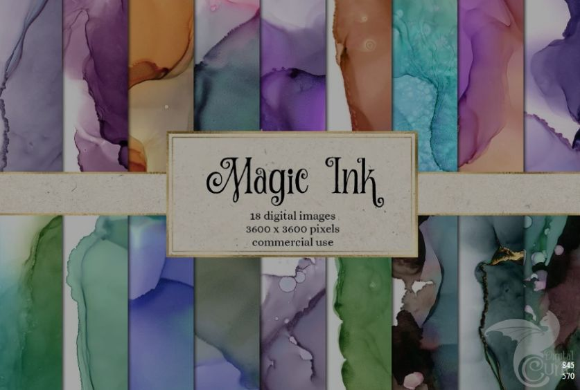 Magic Ink Paper Backgrounds