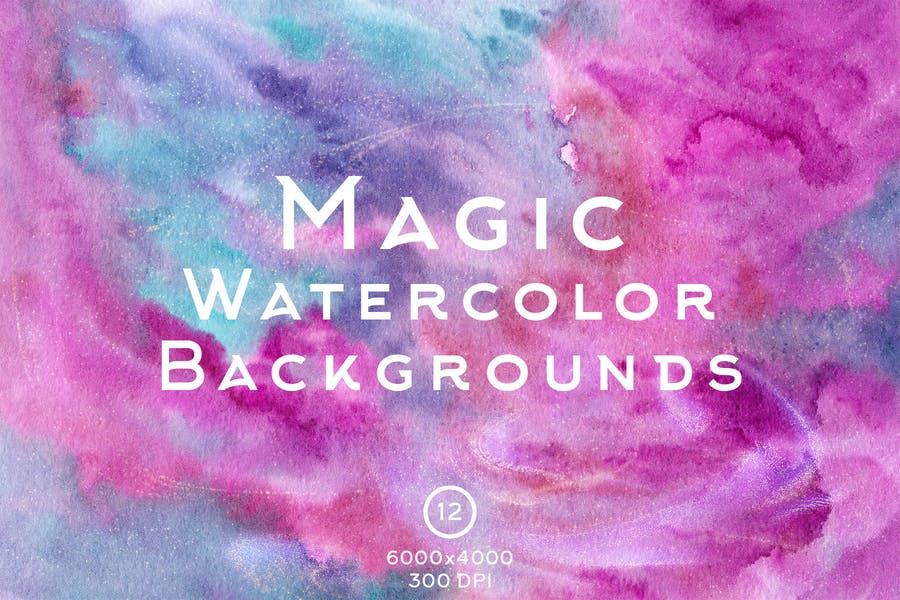 Magic Style Watercolor Backgrounds